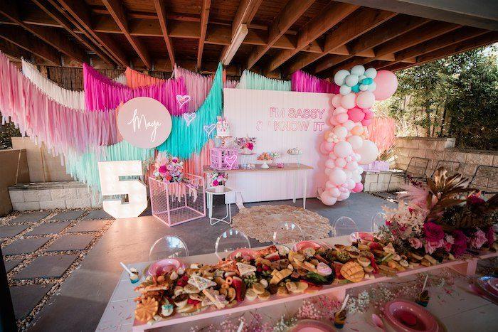 """I'm Sassy and I know it"" Girly Glam 5th Birthday Party on Kara's Party Ideas   KarasPartyIdeas.com (32)"