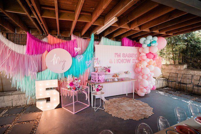 """I'm Sassy and I know it"" Girly Glam 5th Birthday Party on Kara's Party Ideas   KarasPartyIdeas.com (24)"