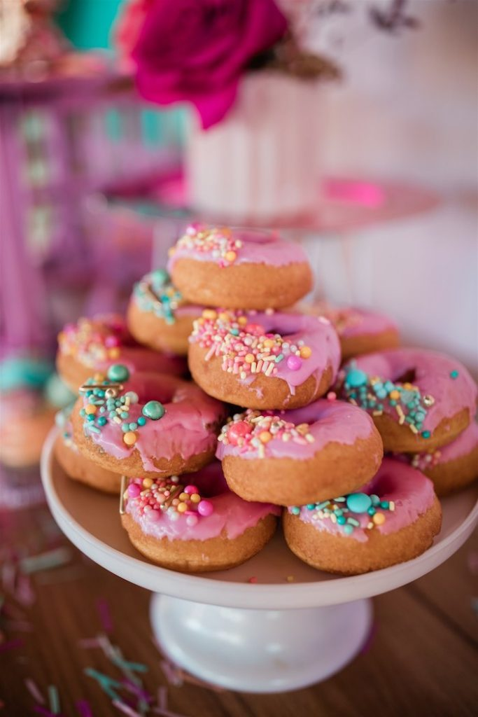 """Glam Sprinkled Donuts from an """"I'm Sassy and I know it"""" Girly Glam 5th Birthday Party on Kara's Party Ideas   KarasPartyIdeas.com (19)"""