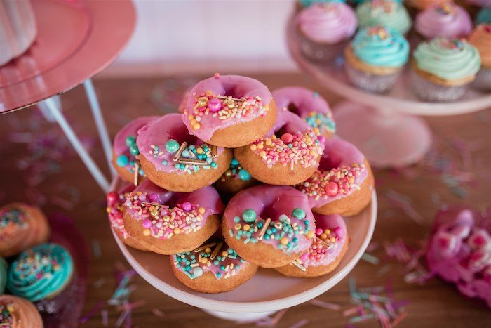 """Glam Sprinkled Donuts from an """"I'm Sassy and I know it"""" Girly Glam 5th Birthday Party on Kara's Party Ideas   KarasPartyIdeas.com (18)"""