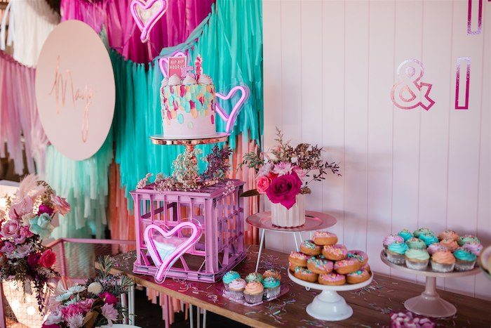 """Dessert Table from an """"I'm Sassy and I know it"""" Girly Glam 5th Birthday Party on Kara's Party Ideas   KarasPartyIdeas.com (13)"""