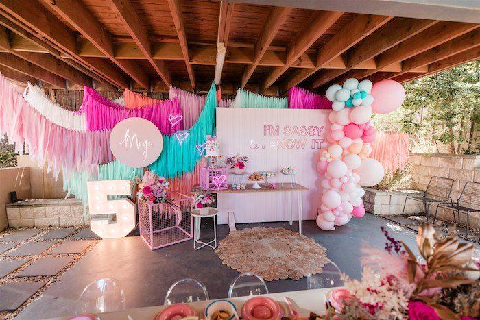 """I'm Sassy and I know it"" Girly Glam 5th Birthday Party on Kara's Party Ideas   KarasPartyIdeas.com (6)"