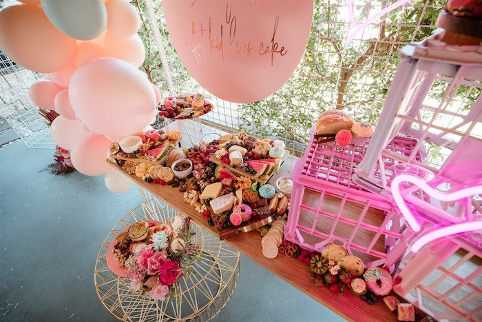 """Glam Grazing Table from an """"I'm Sassy and I know it"""" Girly Glam 5th Birthday Party on Kara's Party Ideas   KarasPartyIdeas.com (49)"""