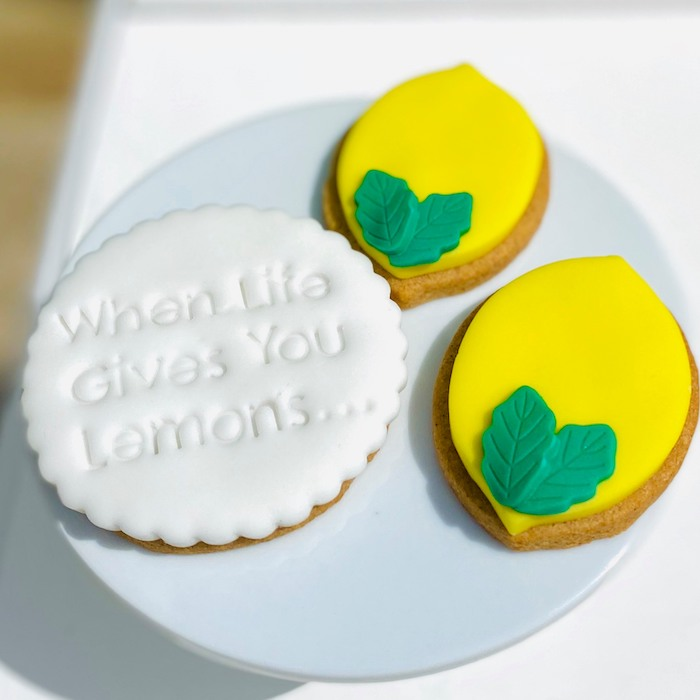 "The Cutest Lemon Cookies from a ""When Life Gives You Lemons"" Quarantine Birthday Party on Kara's Party Ideas 