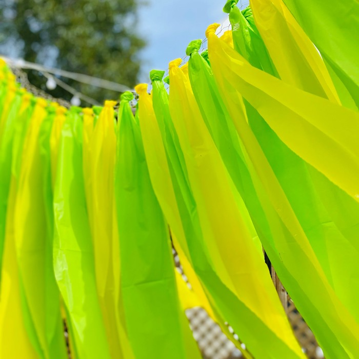 "Tassel Streamer Garland from a ""When Life Gives You Lemons"" Quarantine Birthday Party on Kara's Party Ideas 