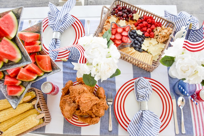 4th of July BBQ Bed Bath Beyond by Kara's Party Ideas-9