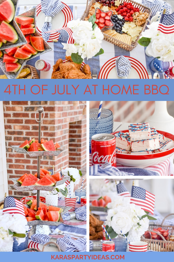 4th of July at Home BBQ via Kara's Party Ideas - KarasPartyIdeas.com