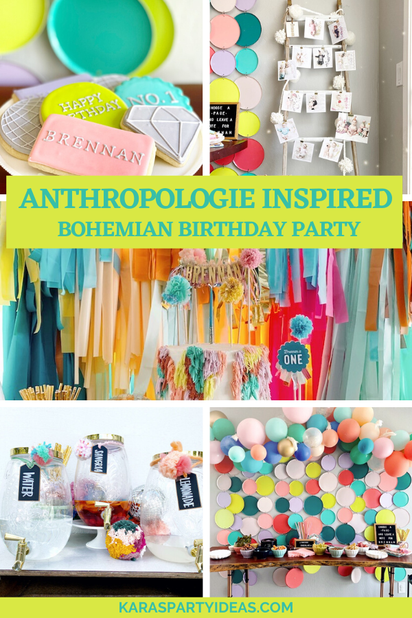Anthrologie Inspired Bohemian Birthday Party via Kara's Party Ideas - KarasPartyIdeas.com