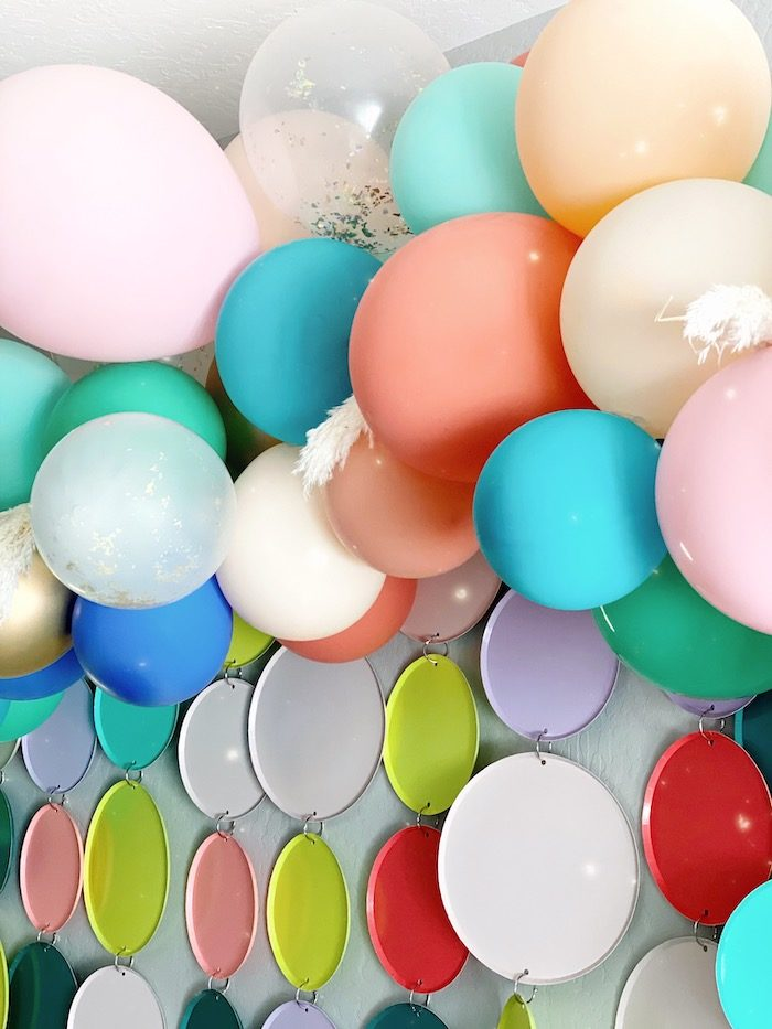 Balloon & Plate Backdrop from an Anthropologie Inspired Bohemian Birthday Party on Kara's Party Ideas | KarasPartyIdeas.com (40)