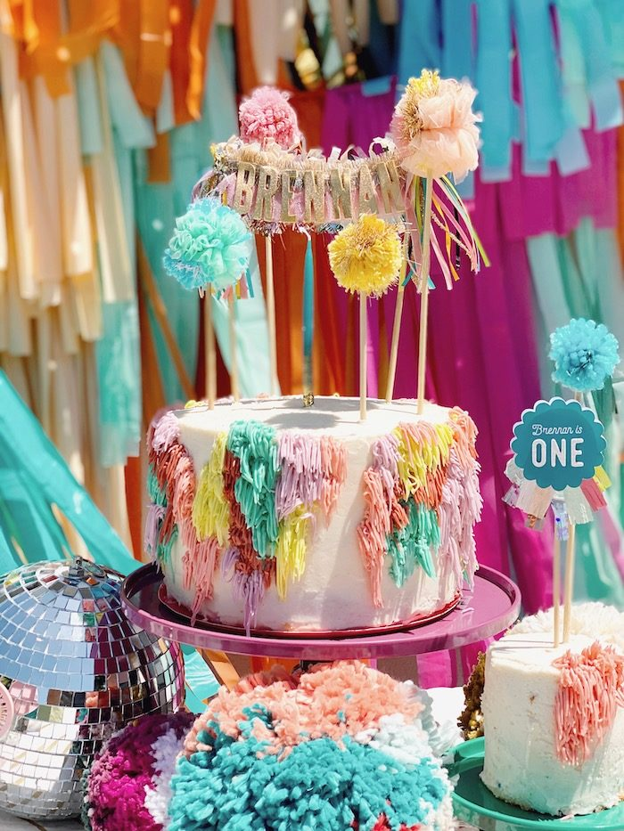 Colorful Boho Birthday Cake from an Anthropologie Inspired Bohemian Birthday Party on Kara's Party Ideas | KarasPartyIdeas.com (38)
