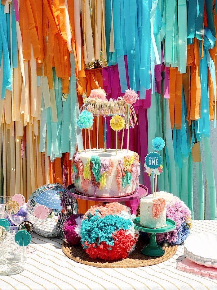 Colorful Bohemian Dessert Table from an Anthropologie Inspired Bohemian Birthday Party on Kara's Party Ideas | KarasPartyIdeas.com (35)