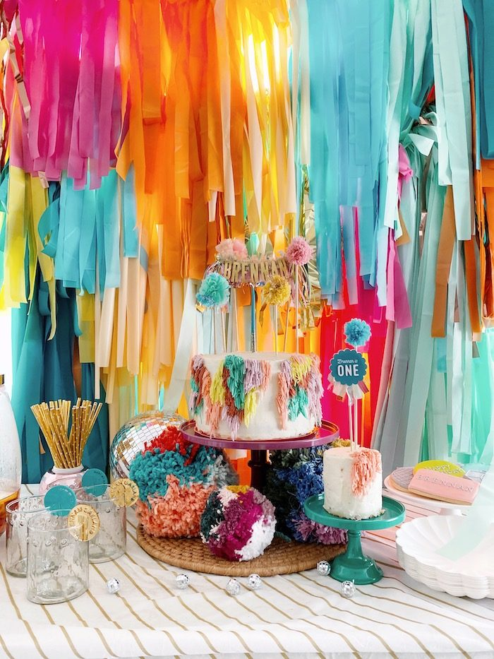 Colorful Bohemian Dessert Table from an Anthropologie Inspired Bohemian Birthday Party on Kara's Party Ideas | KarasPartyIdeas.com (31)