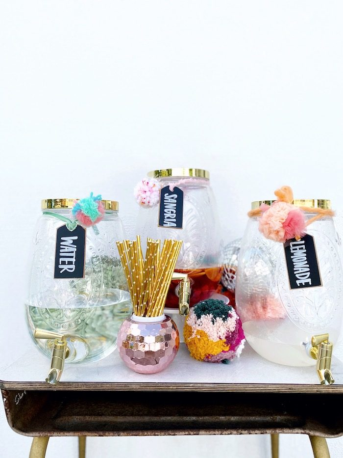 Boho Beverage Bar from an Anthropologie Inspired Bohemian Birthday Party on Kara's Party Ideas | KarasPartyIdeas.com (26)