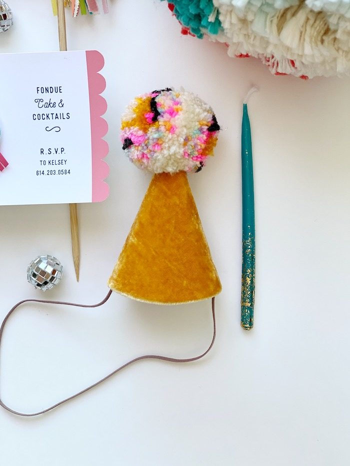 Anthropologie-inspired Party Hat from an Anthropologie Inspired Bohemian Birthday Party on Kara's Party Ideas | KarasPartyIdeas.com (50)