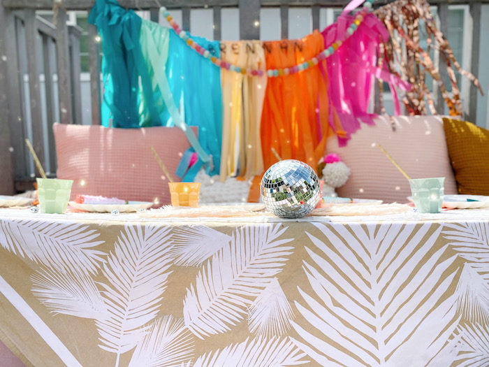 Colorful Boho Party Table from an Anthropologie Inspired Bohemian Birthday Party on Kara's Party Ideas | KarasPartyIdeas.com (16)