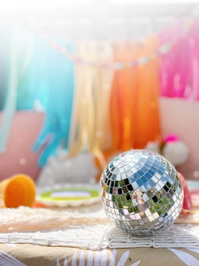Disco Ball from an Anthropologie Inspired Bohemian Birthday Party on Kara's Party Ideas | KarasPartyIdeas.com (14)