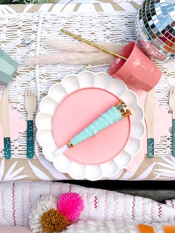 Anthropologie Table Setting from an Anthropologie Inspired Bohemian Birthday Party on Kara's Party Ideas | KarasPartyIdeas.com (12)