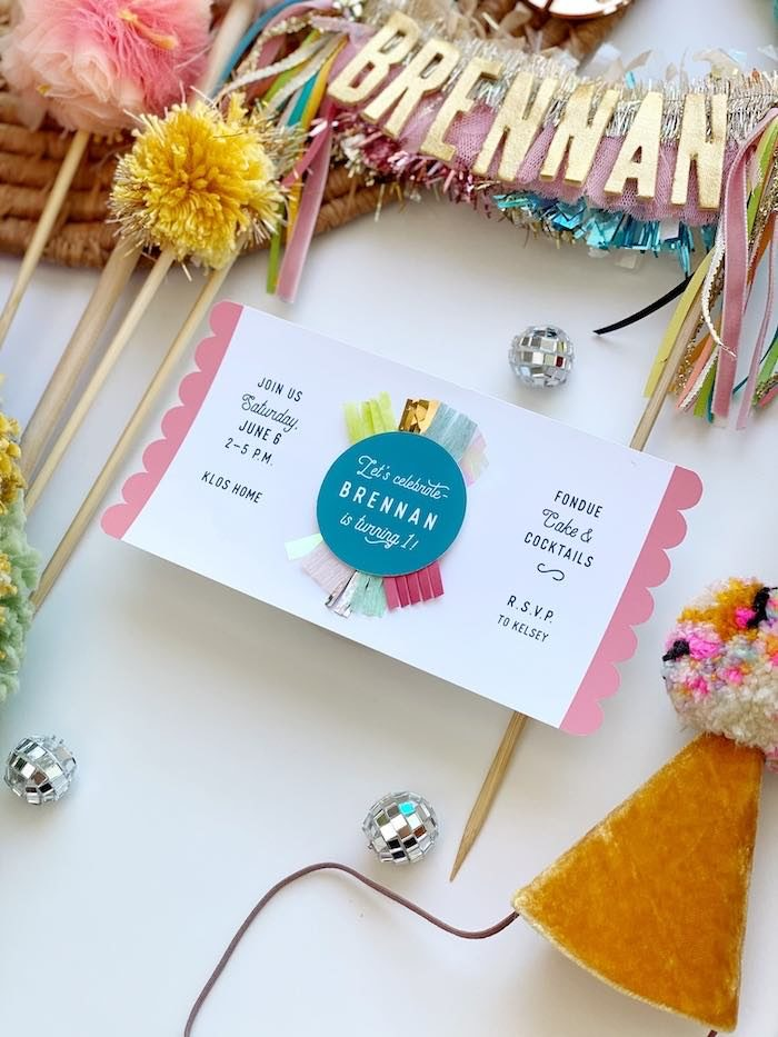 Boho Party Invite from an Anthropologie Inspired Bohemian Birthday Party on Kara's Party Ideas | KarasPartyIdeas.com (9)