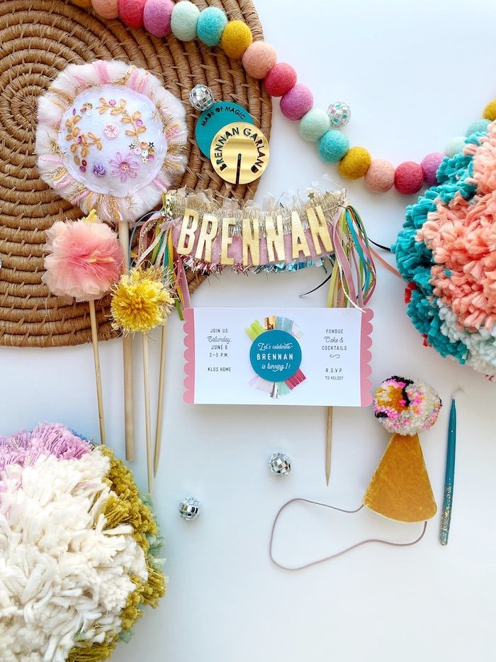 Boho Party Invite from an Anthropologie Inspired Bohemian Birthday Party on Kara's Party Ideas | KarasPartyIdeas.com (8)