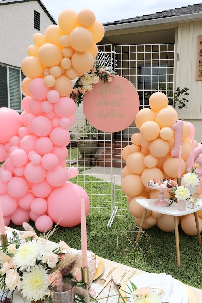 Balloon Install Backdrop from a Bohemian Quarantine Drive-By Party on Kara's Party Ideas | KarasPartyIdeas.com (14)