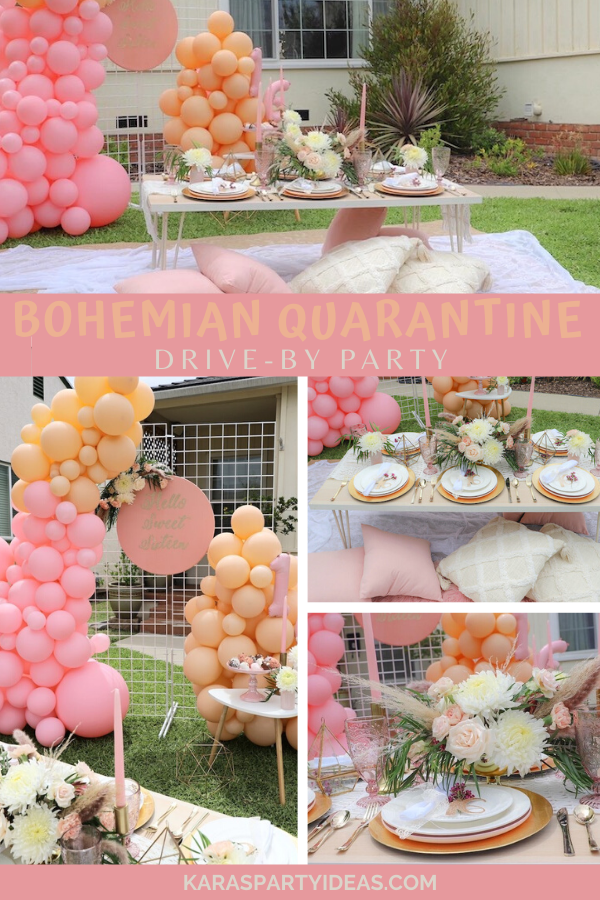 Bohemian Quarantine Drive-By Party via Kara's Party Ideas - KarasPartyIdeas.com
