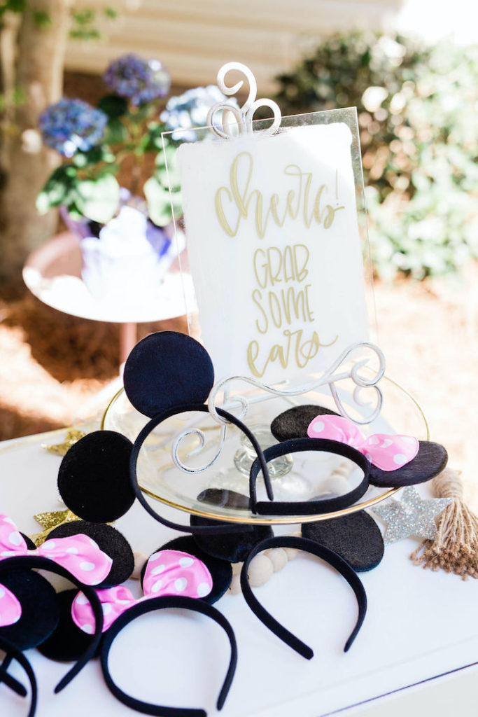 Mickey + Minnie Mouse Ears from a Boho Classic Disney World Princess Birthday Party on Kara's Party Ideas | KarasPartyIdeas.com (27)
