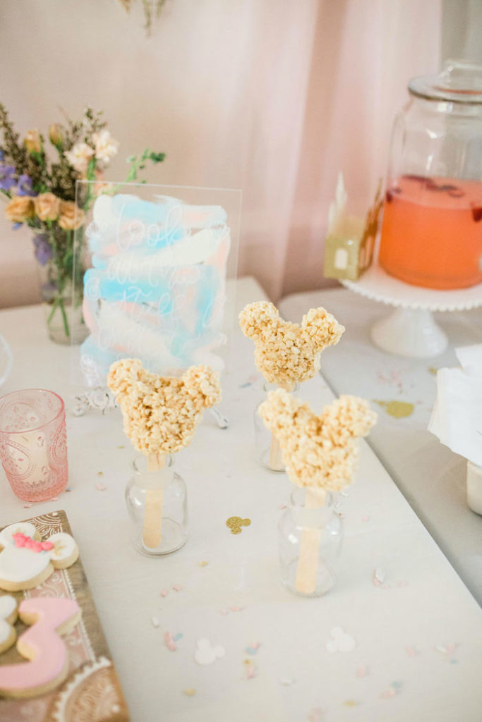 Mickey Mouse Ear Rice Krispie Treat Pops from a Boho Classic Disney World Princess Birthday Party on Kara's Party Ideas | KarasPartyIdeas.com (15)