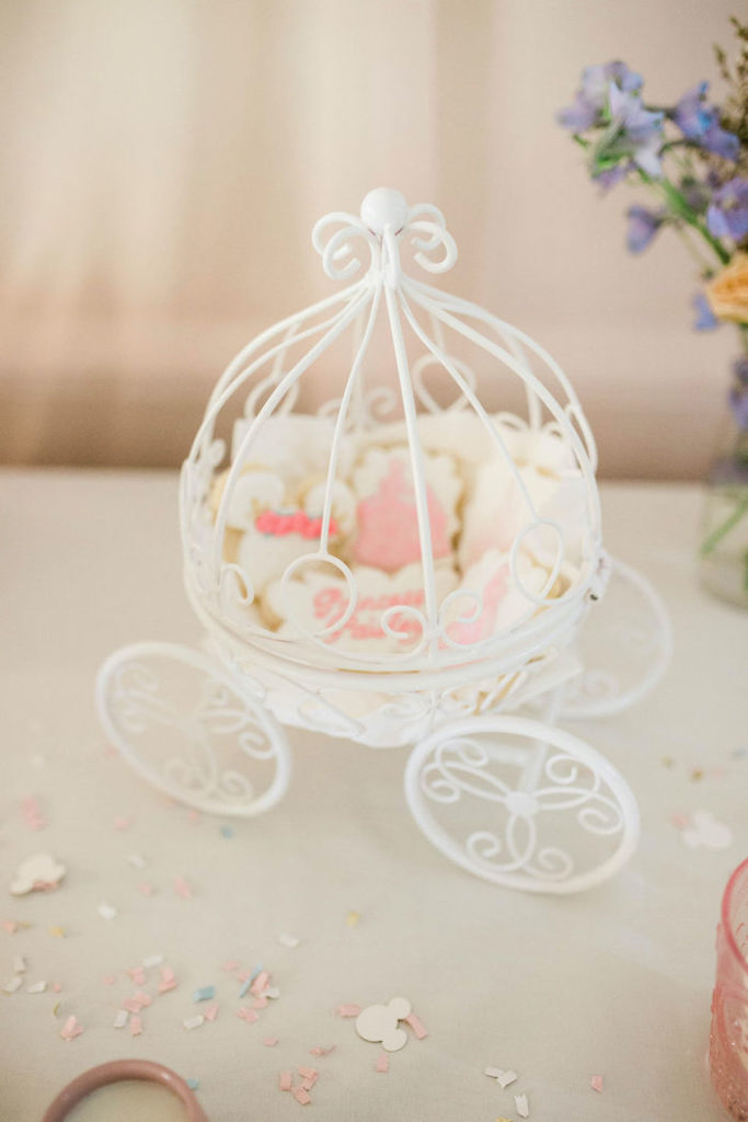Disney Princess Cookies in Cinderella's Carriage from a Boho Classic Disney World Princess Birthday Party on Kara's Party Ideas | KarasPartyIdeas.com (13)