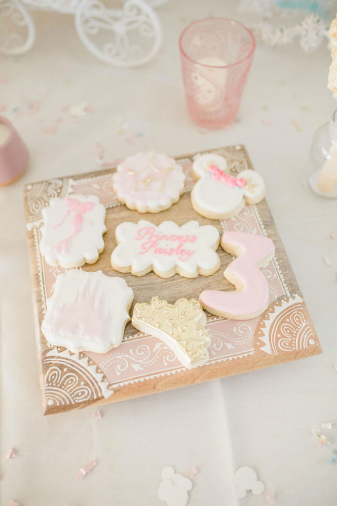 Disney Princess Cookies from a Boho Classic Disney World Princess Birthday Party on Kara's Party Ideas | KarasPartyIdeas.com (12)