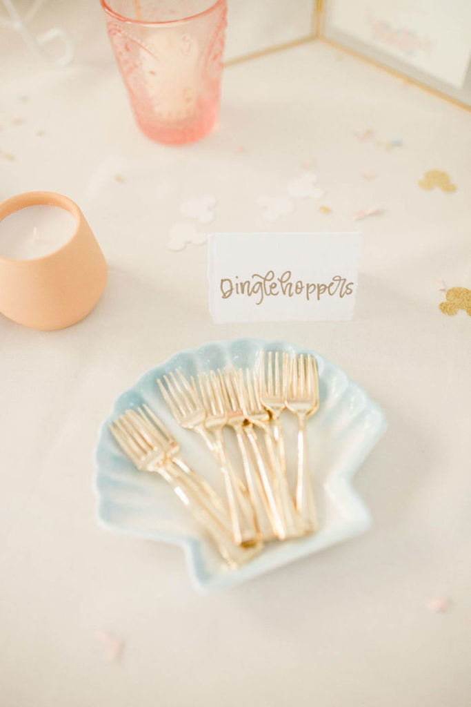 Dinglehoppers + Forks from a Boho Classic Disney World Princess Birthday Party on Kara's Party Ideas | KarasPartyIdeas.com (11)