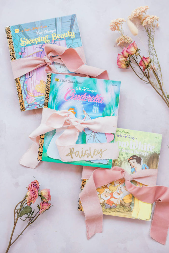 Disney Little Golden Book Favors from a Boho Classic Disney World Princess Birthday Party on Kara's Party Ideas | KarasPartyIdeas.com (33)