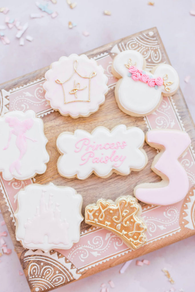 Disney Princess Cookies from a Boho Classic Disney World Princess Birthday Party on Kara's Party Ideas | KarasPartyIdeas.com (30)