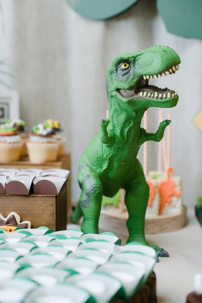 Plastic Dinosaur Prop from a Colorful Dinosaur Birthday Party on Kara's Party Ideas | KarasPartyIdeas.com (22)