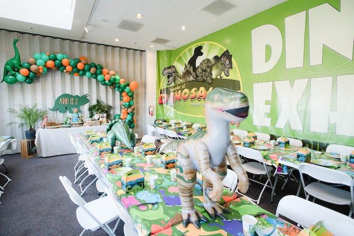 Colorful Dinosaur Birthday Party on Kara's Party Ideas | KarasPartyIdeas.com (7)