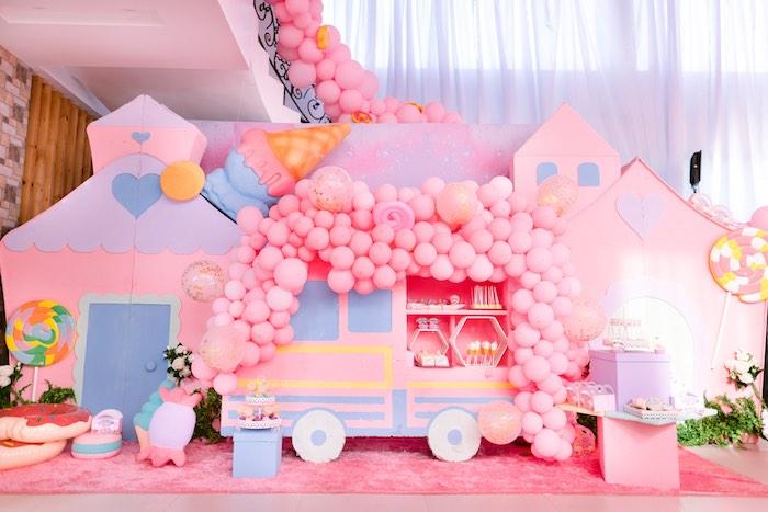 Ice Cream Truck Sweet Spread from a Dessert World Birthday Party on Kara's Party Ideas | KarasPartyIdeas.com (26)