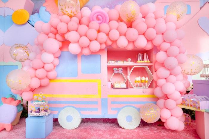 Ice Cream Truck Sweet Spread from a Dessert World Birthday Party on Kara's Party Ideas | KarasPartyIdeas.com (25)