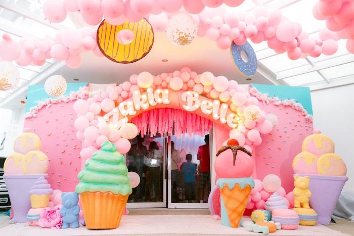 Dessert Themed Party Entrance from a Dessert World Birthday Party on Kara's Party Ideas | KarasPartyIdeas.com (17)