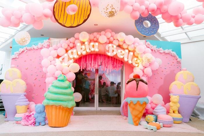 Dessert Themed Party Entrance from a Dessert World Birthday Party on Kara's Party Ideas | KarasPartyIdeas.com (16)