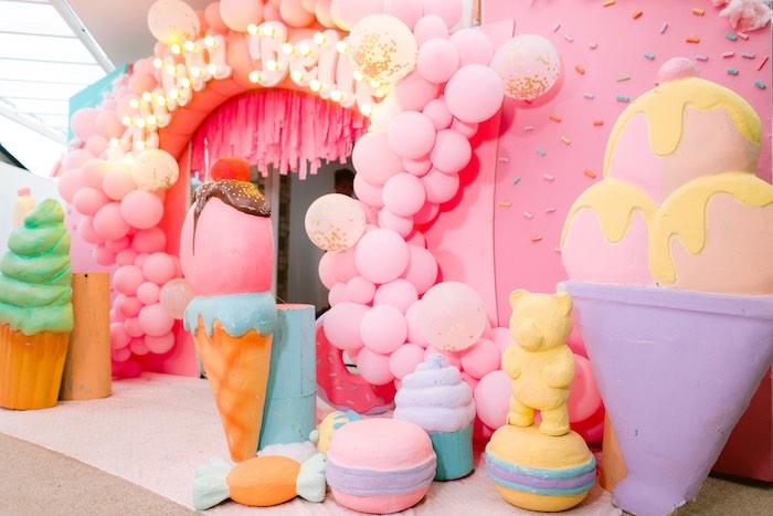 Giant Dessert Props from a Dessert World Birthday Party on Kara's Party Ideas | KarasPartyIdeas.com (15)