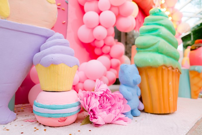 Giant Dessert Props from a Dessert World Birthday Party on Kara's Party Ideas | KarasPartyIdeas.com (14)