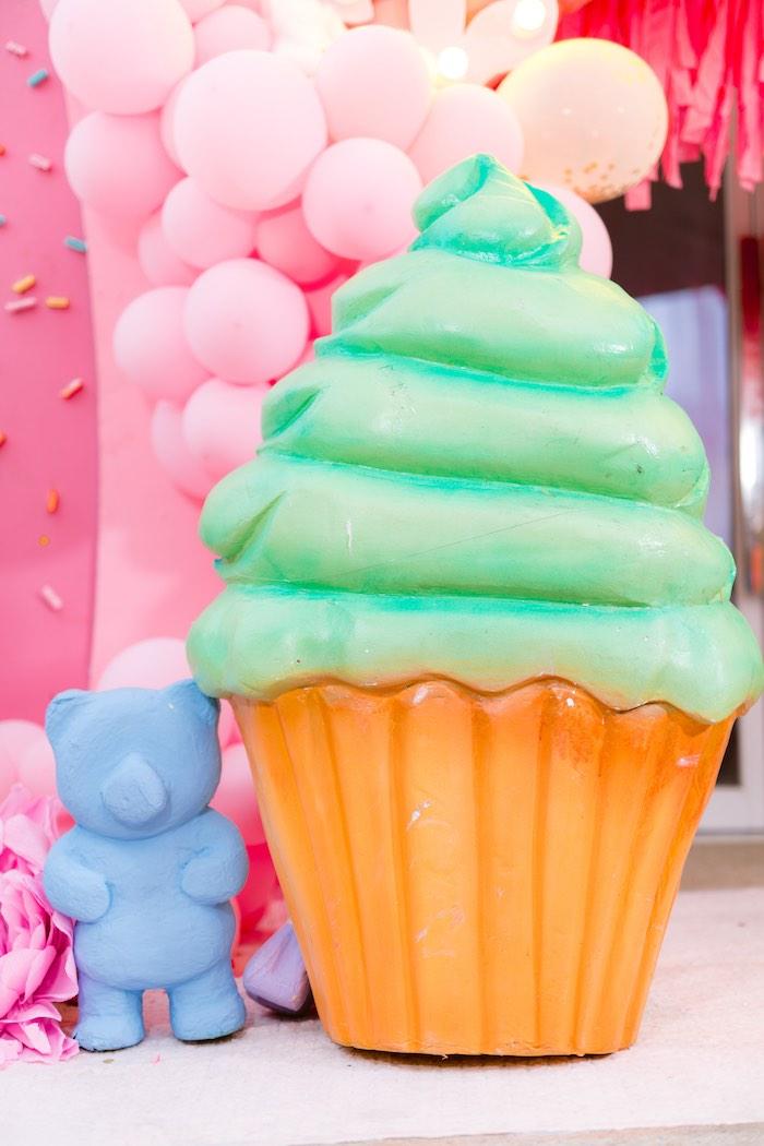 Giant Dessert Props from a Dessert World Birthday Party on Kara's Party Ideas | KarasPartyIdeas.com (11)