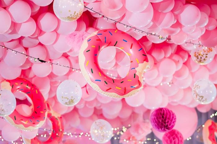 Balloon & Inflatable Ceiling from a Dessert World Birthday Party on Kara's Party Ideas | KarasPartyIdeas.com (10)