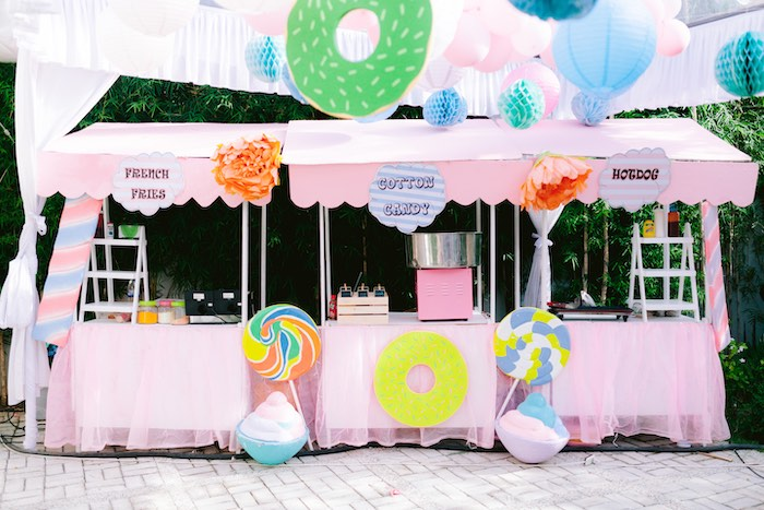 Food Stands from a Dessert World Birthday Party on Kara's Party Ideas | KarasPartyIdeas.com (9)