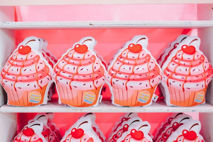 Cupcake Pillow Favors from a Dessert World Birthday Party on Kara's Party Ideas | KarasPartyIdeas.com (7)