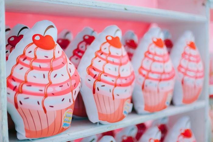Cupcake Pillow Favors from a Dessert World Birthday Party on Kara's Party Ideas | KarasPartyIdeas.com (6)