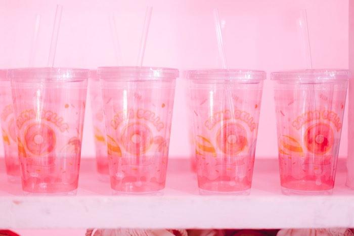 Favor Cups from a Dessert World Birthday Party on Kara's Party Ideas | KarasPartyIdeas.com (5)