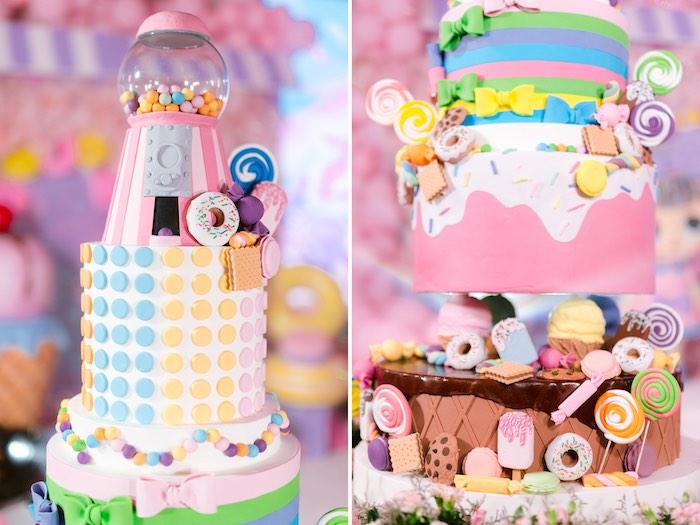 Dessert Themed Birthday Cake from a Dessert World Birthday Party on Kara's Party Ideas | KarasPartyIdeas.com (33)