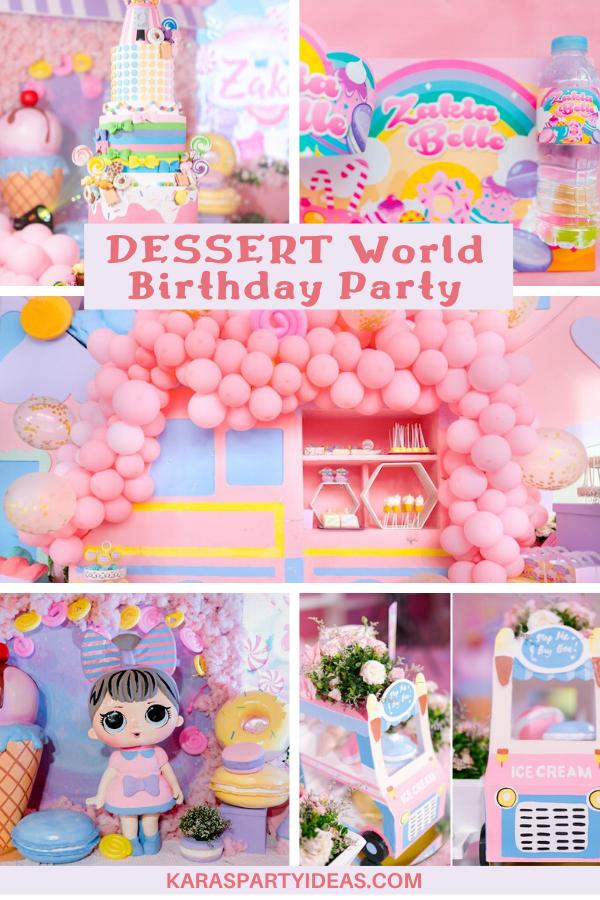 Dessert World Birthday Party via Kara's Party Ideas - KarasPartyIdeas.com