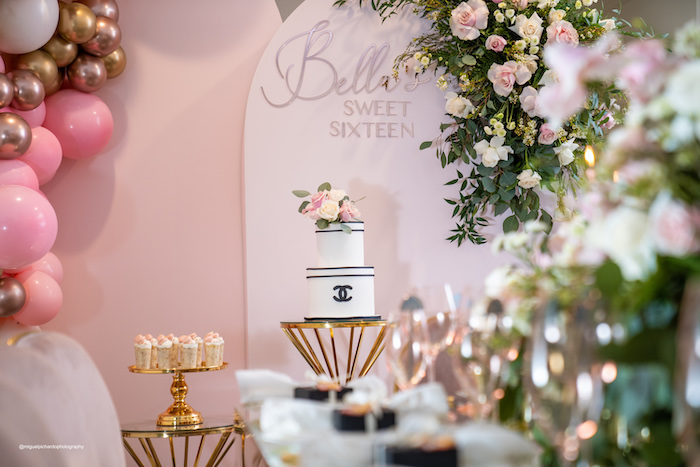 Elegant Chanel Inspired Sweet 16 Dinner Party on Kara's Party Ideas | KarasPartyIdeas.com (18)