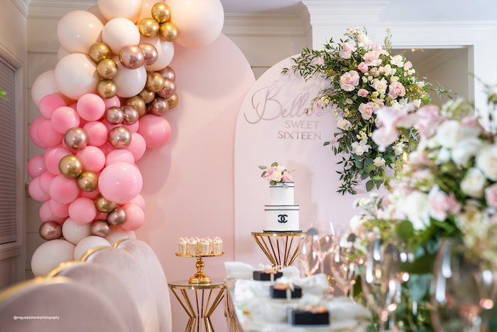 Elegant Chanel Inspired Sweet 16 Dinner Party on Kara's Party Ideas | KarasPartyIdeas.com (17)